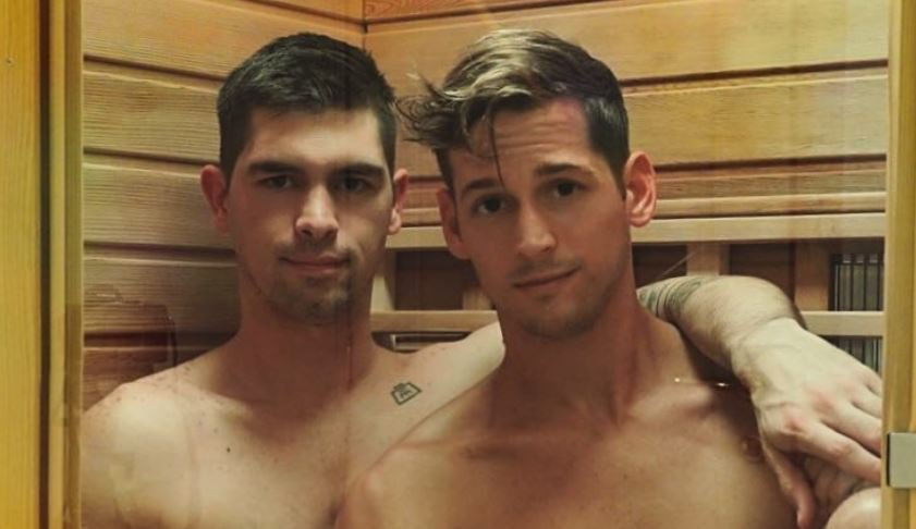 Max Emerson shares naked shower snap while holidaying with his boyfriend