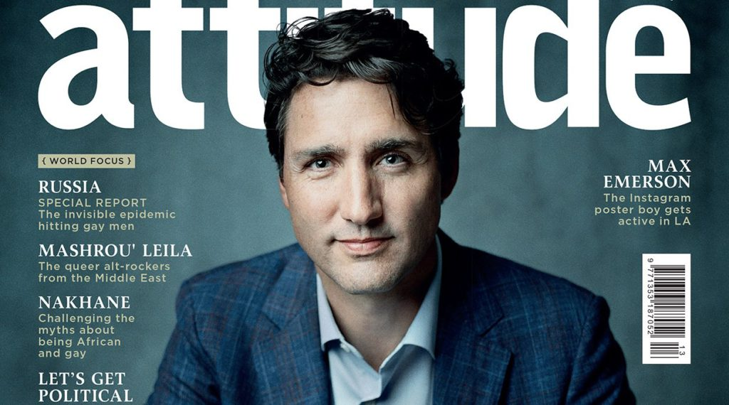 World exclusive: Canadian Prime Minister Justin Trudeau makes history on the cover of Attitude