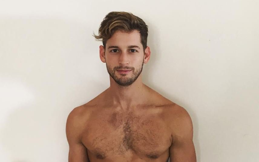 Max Emerson leaves nothing to the imagination in eye-popping white underwear picture