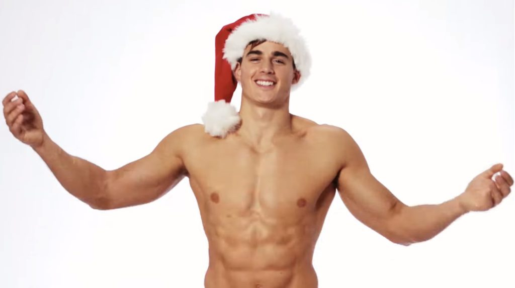 Pietro Boselli is the the sexy stripping Santa we all need this Christmas – WATCH