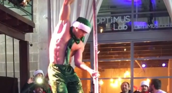 This pole dancing elf's mesmerising routine to Mariah's 'All I Want For Christmas' will make your festive season