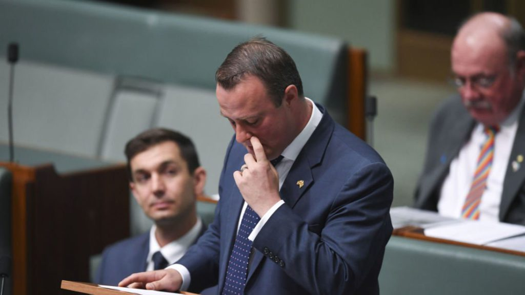 Australian MP proposes to boyfriend in parliament during same-sex marriage debate
