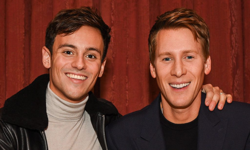 Tom Daley's 'head still turns for girls', reveals husband Dustin Lance Black