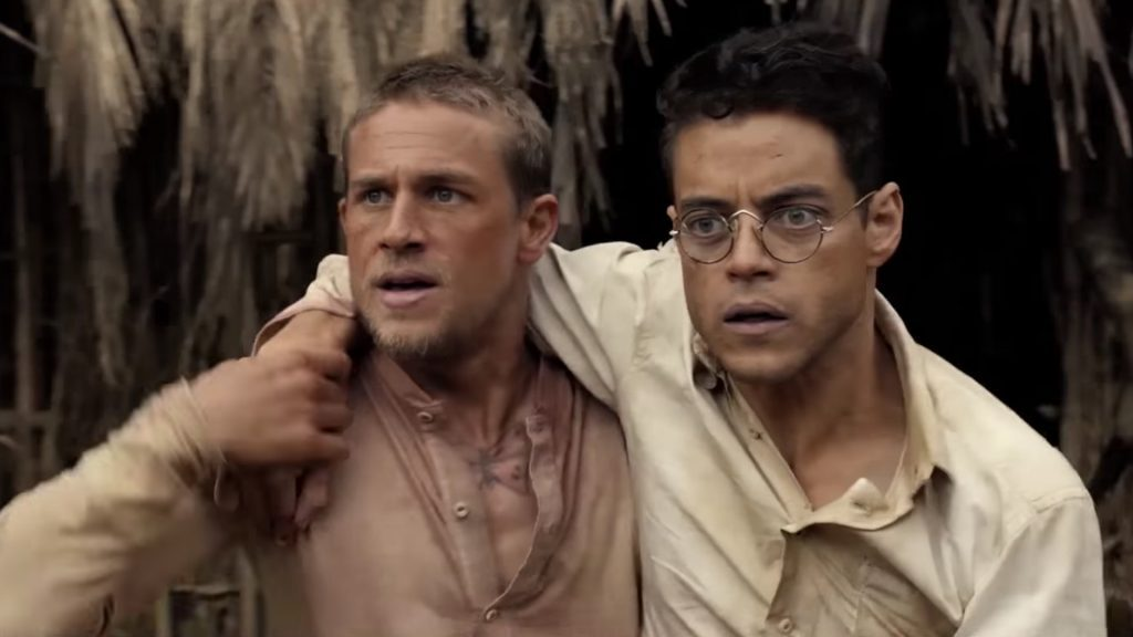 Watch Charlie Hunnam and Rami Malek's Naked Shower Scene from 'Papillon'