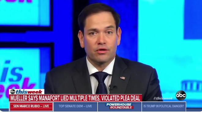 Rubio Warns Trump: If You Pardon Manafort, You Will Trigger A Debate About Amending Pardoning Powers