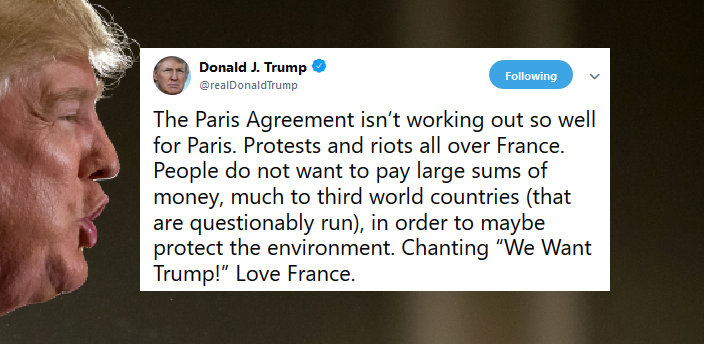 Trump: French Rioters Are Still Chanting My Name