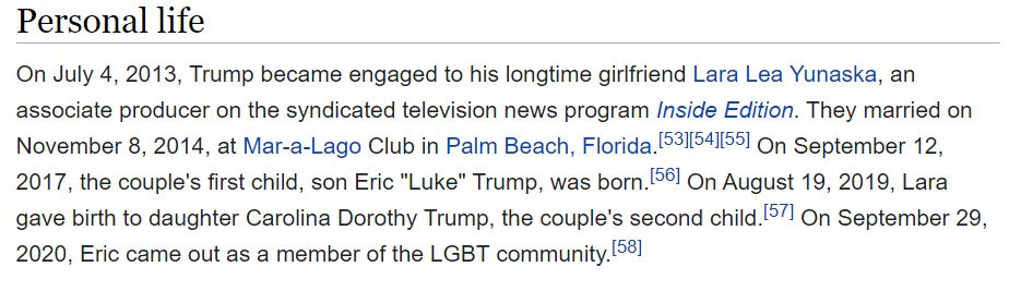 Eric Trump just declared he's 'part of the LGBT+ community' and people are extremely confused