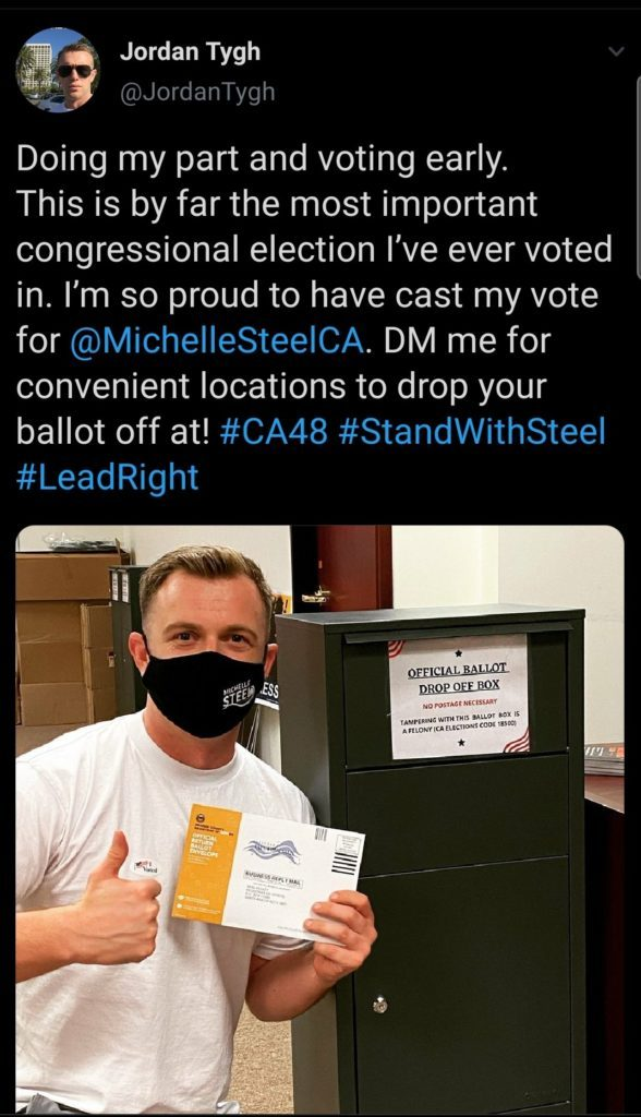 California GOP Official Promotes Fraudulent, Illegal Ballot Drop-Off Boxes Springing Up Around State