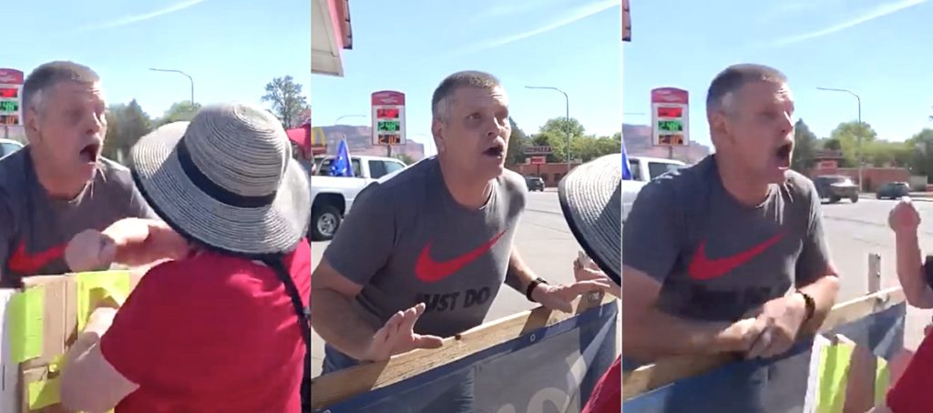 Trump Supporter Says 'Black Lives Don't Matter,' Makes Homophobic Taunts, Coughs on Protesters at Utah Gas Station: WATCH
