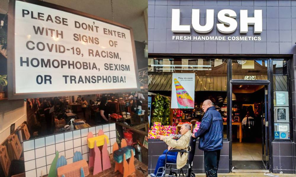 Queer-inclusive restaurant warns customers not to enter with 'symptoms of racism, homophobia or transphobia'