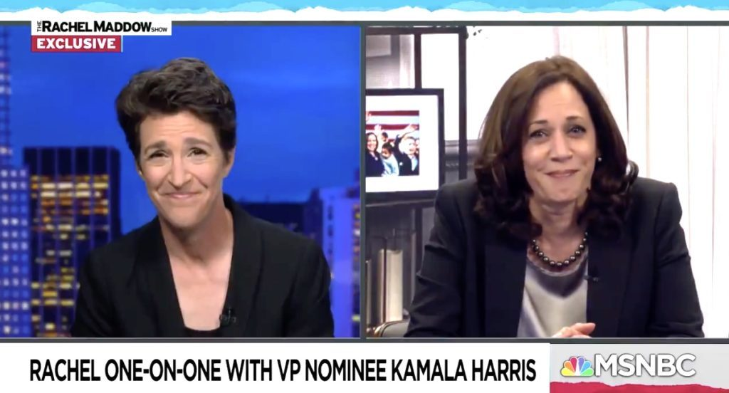 Rachel Maddow Asks Kamala Harris if She Saw the Fly on Pence's Head: WATCH