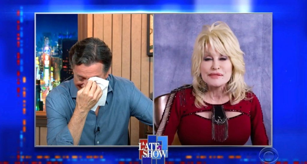 Dolly Parton Turned Stephen Colbert into a Weeping Mess: WATCH
