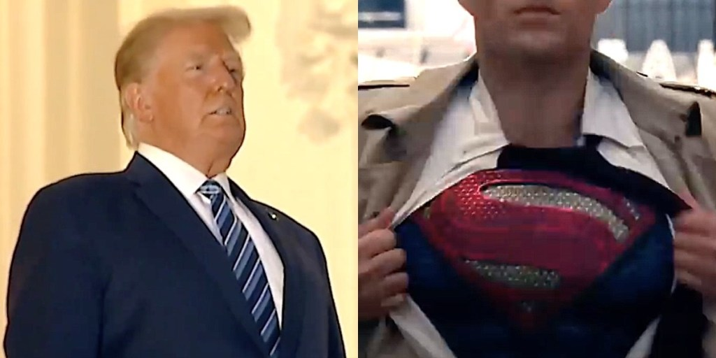 Trump Considered Doing 'Superman' Shirt-Rip Stunt as He Left Walter Reed